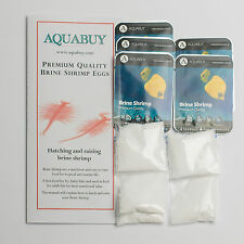 Brine Shrimp Eggs and Salt  packs 500mL - 5 packs - Artimia salina