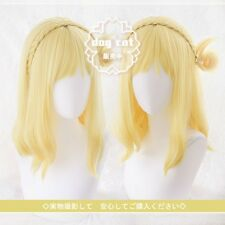 Love Live! Sunshine!! Aqours Ohara Mari Yellow Mixed Short Cosplay Costume wig
