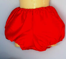 red satin pants pantaloons french maid sissy adult baby fits 34-42 bloomers