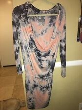 Young Fabulous And Broke Designer Tye Dye Long Sleeve Dress Small Retails $174