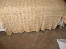 Antique Crochet lace poster bed bedspread