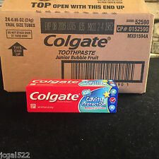 24 Tubes! Colgate Junior Bubble Fruit Toothpaste Kids Toothpaste Bulk Lot Travel