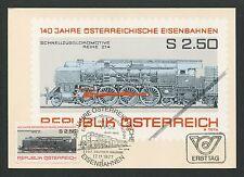 AUSTRIA MK 1977 LOKOMOTIVE TRAIN EISENBAHN MAXIMUMKARTE MAXIMUM CARD MC CM d2094