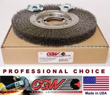 """10"""" Crimped Wire Radial Wide Face Wheel Brush Carbon Steel"""
