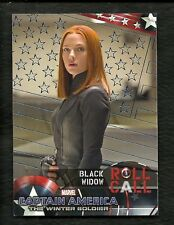 CAPTAIN AMERICA The Winter Soldier BLACK WIDOW  #92 BLUE Foil Parallel # 1 of 25