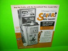 Chicago Coin SAFARI 1969 Original Vintage Rifle Gun Arcade Game Sales Flyer