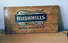Bushmills irish Whiskey plaque wooden Fathers gift day mancave shed bar pub