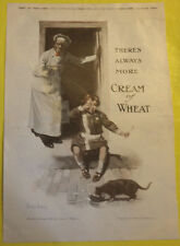 Cream of Wheat Boy & Cat Ad 1920 Ranger Bikes Ad Page Great Picture! Nice See!