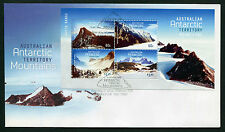 2013 AAT Mountains Minisheet FDC First Day Cover Stamps Australia