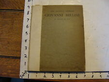 Vintage Book: Artist's Library: Giovanni Bellini by Roger Fry, 1899