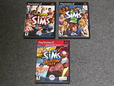 Lot 3 Playstation 2 (the sims/sims 2/bustin' out) CIB complete PS2 games