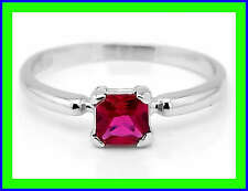 STERLING SILVER JULY BIRTH MONTH CUBIC ZIRCONIA CHILD RING SZ 3
