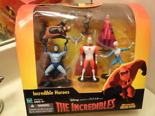 THE INCREDIBLES HEROES Figure Set RARE UNDERMINER Edna Frozone Stratogale TS-C1