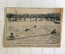 1923 Brighton Policeman Swimming Contest In Uniform