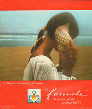 """Publicité Advertising 1974  Parfum """"farouche"""" de NINA RICCI"""