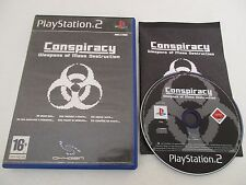CONSPIRACY WEAPONS OF MASS DESTRUCTION - SONY PLAYSTATION 2 PS2 PAL FR COMPLET