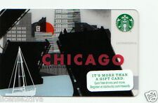 STARBUCKS GIFT CARD! CHICAGO LOGO! NEW! PERFECT GIFT! EARN DRINKS! FREE SHIP!