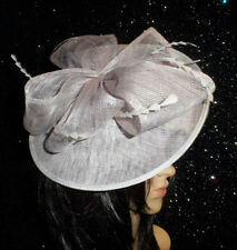 FAILSWORTH VERY PALE LILAC WEDDING HAT DISC FASCINATOR MOTHER OF THE BRIDE