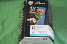 HP 57 Colour Ink  Original - Box  Date 2013 + 60 Sheets of Photo Paper Q7942AE