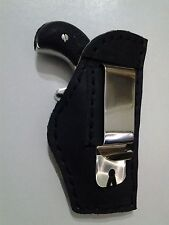 iwb belt clip holster north american arms mini revolver 22 magnum black leather