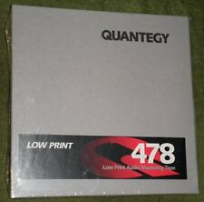 """QUANTEGY 478 1/4"""" 600' REEL TO REEL MASTER TAPE  BRAND NEW"""