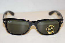 RAYBAN  SUNGLASSES   NEW WAYFARER 2132  BLACK 901  55MM EYE  POLARIZED