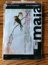 MAIA THE ART OF EMBROIDERY COUNTED CROSS STITCH KIT SWALLOWS
