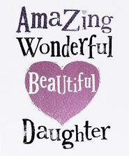 THE BRIGHT SIDE GREETING CARD: DAUGHTER  - NEW IN CELLO POST DAILY