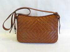 Fossil Brown Woven Leather Satchel - GR8!