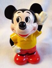 """Vintage Mickey Mouse Bank Painted Chalkware Walt Disney Productions Japan 6"""""""