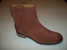 """NWOB NINE WEST """"JARETH"""" women's rust brown suede leather ankle boots 7.5M"""