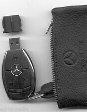 Mercedes Media Interface 4GB USB Schlüssel Leder Tasche W212 W221 W207 W216 W204