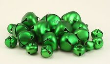 Green Craft Tiny Small Jingle Bells Assorted Sizes 1/2, 3/4, 1 inch 19 Pieces