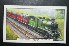 LMS    The Sunny South Express     1930's Vintage Card # VGC