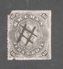 BREMEN STAMP #7 --  10gr COAT OF ARMS --1861 -- USED