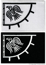 LOT 2 VIKING FLAG BIKER PATCH RAVEN BANNER THOR PAGAN IRON-ON NORWAY EMBROIDERED