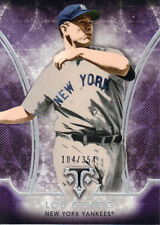 "2015  TOPPS    ""TRIPLE THREADS""  AMETHYST  #50  LOU GEHRIG  104/354"