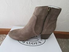 NEW STEVE MADDEN PORCHA TAUPE SUEDE ANKLE BOOTS WOMENS 6 BOOTIES