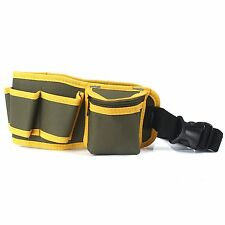 Hardware Mechanic's Canvas Tool Bag Belt Utility Kit Pocket Pouch Organizer