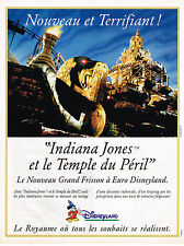 "PUBLICITE ADVERTISING 094  1994   EURO DISNEYLAND  ""INDIANA JONES"""