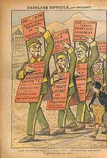 Caricature Anti Maçonnique Emile Combes Georges Clemenceau 1913 ILLUSTRATION
