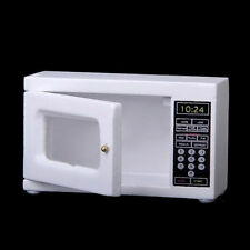 1:12 Dollhouse Mini Furniture Kitchen Accessory Wood Microwave Oven For Kids 1x