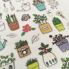 Suatelier Plant Kawaii Stickers Stationery Cactus Garden Planner Scrapbook Leaf
