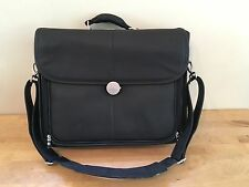 "15"" DELL Black Vinyl Laptop Briefcase Bag w/  Computer Hard Case Compartment"