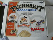 TECHNOKIT Multi Pack 3 kits in one Timber Slot Racers Air-Strike Buzzwire AGE 8+