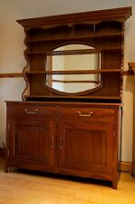 Unique Solid Wood Mahogany Dresser Buffet with Mirror Handmade