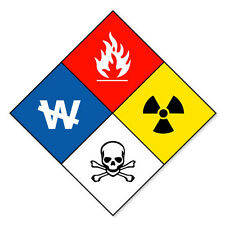 "HAZMAT Hazardous Materials Danger sticker decal 5"" x 5"""