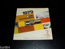 1979 AMC Pacer AMX Spirit Concord Accessories sales brochure dealer literature
