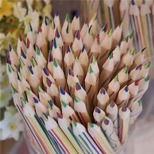 10 pzs lápiz de color de arco iris 4 en 1 Colorido Lápices para Dibujo