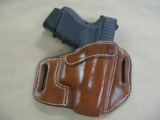 Taurus G2 millenium 9mm OWB Leather 2 Slot Pancake Belt Holster CCW TAN R